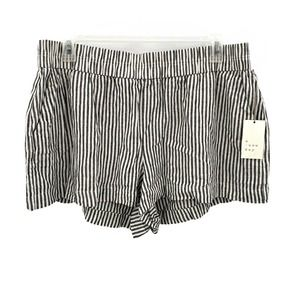 A New Day Striped Linen Blend Casual Shorts XXL